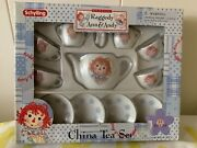 Vintage Raggedy Ann And Andy Tea Set 2 Sets Total. One Set Is Missing One Plateandnbsp
