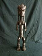 Attie Figure Carving Akye Attye Ivory Coast West Africa Abstract Statue Woman