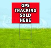 Gps Tracking Sold Here Yard Sign Corrugated Plastic Bandit Lawn Decoration