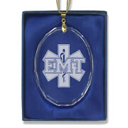 Glass Christmas Ornament Emt Emergency Medical Technician