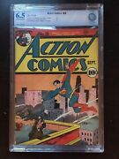 Action Comics 28 Cbcs Fn+ 6.5 Ow-w Classic Superman Cover