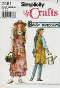 Daisy Kingdom Apron Sewing Pattern S/m/l/xl Simplicity 7481 Same As 5201 Oop
