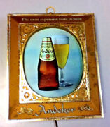 Pabst Beer Sign Vintage Wall Light Box Graphic Lighted Bottle Glass Andeker Mf6