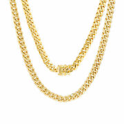 10k Yellow Gold Mens 6mm Genuine Miami Cuban Link Chain Pendant Necklace 18-30