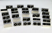 Solid Sterling Silver Full Domino Set 28 Pieces Solid With Enamel