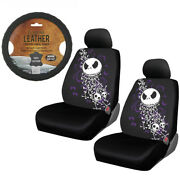 New 5pc Nightmare Before Christmas Jack Skull Seat Covers And Steering Wheel Cover