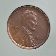 1914-s Lincoln Wheat Cent Ms+++ Bn Condition A-1214