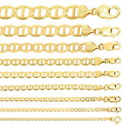 10k Yellow Gold Solid 2mm-10.5mm Mariner Anchor Chain Necklace Bracelet 7- 30