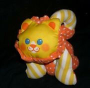 Vintage 1990 Fisher Price Zoo Grabbers Lion 1336 Rattle Stuffed Animal Plush Toy