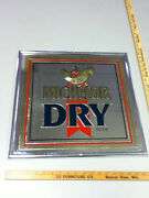 Michelob Beer Sign Bar Vintage Brand Dry 1989 Mirror Anheuser Busch Brewery Wt2