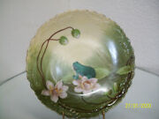 Limoges Frog And Lily Pad Plate
