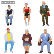 P2508 G Scale Figures 122.5-125 All Seated Painted People Model Railway