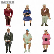 P2511 G Scale Figures 122.5-125 All Seated Painted People Model Railway