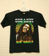 Vintage Hot Ice Bob Marley One Love Double Sided Print T-shirt Men's Size Large