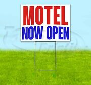 Motel Now Open Yard Sign Corrugated Plastic Bandit Lawn Decorations