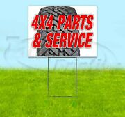 4x4 Parts And Service Yard Sign Corrugated Plastic Bandit Lawn Decorations