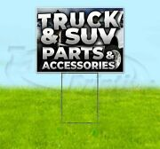Truck And Suv Parts And Accessories Yard Sign Corrugated Plastic Bandit Lawn Decor