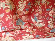 32yds Clarence House Bangalore Linen Print Rose Red Floral Msrp 250/y 1482