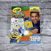 Crayola Despicable Me Minion Marker Airbrush Turn Markers Into Spray Brush Art