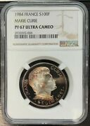 France - 100 Francs Be Marie Curie - Ngc Pf67 Ultra Cameo - Very Rare