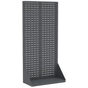 Akro-mils 30651 Louvered Floor Rack One Sided 35-3/4l X 17w X 75h 1 Ea