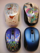 Lot Logitech M325 Wireless Mouse Tweet Tweet, Lady On The Lily For Parts /repair