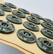 Vintage Buttons - 24 Stone Gray Open Center 2-hole Casein 7/8 Buttons - France