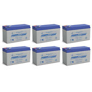 Power-sonic 12v 9ah Replacement Battery For Sports Tutor Tennis Tutor - 6 Pack