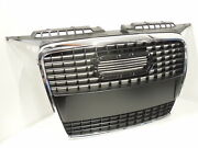 Audi A3 8p Front Single Frame Grill Black New B273fb