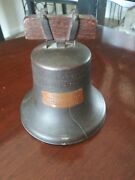 Rare Antique Ring It Again Liberty Bell Peoples State Bank Michigan Coin Bank