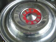 Vintage Ford 1955 1956 Fairlane Thunderbird T Bird Hubcaps Trim Ring Center Cap