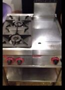 Angelo Po 2 Gas Burner With Grill And Locking Wheeled Stand Very Good Condition