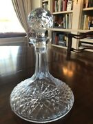 Waterford Crystal Wine Decanter And Stopper