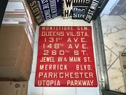 Ny Nyc Queens Bus Roll Sign Cemetery Parkchester Utopia Merrick Station Jewel