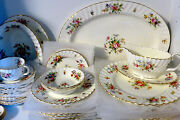 England 1938-58 Minton Marlow Bone China Andbull Retired Andbull Service For 8 + Serving
