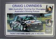 Signed Craig Lowndes Print Hrt Holden Racing Team Holden Vr Commodore