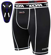 Rdx Kids Thermal Compression Flex Shorts And Gel Groin Cup Guard Mma Muay Thai