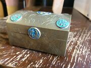 Antique Vintage Brass Bowl Home Mid Century Dome Trunk Jewelry Box