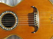 Around 1850 - 1890 Early Romantic Parlour Acoustic Guitar. Restored. Playable.