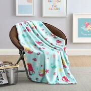 Ultra Soft And Plush Mermaids And Fish Princess Hypoallergenic Fleece Throw Blanket