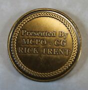 Master Chief Petty Officer Of The Coast Guard Rick Trent Coastie Challenge Coin