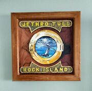 Jethro Tull Rock Island - Hand Carved Album Cover On Wood