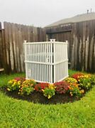 Privacy Screen Garbage Can Lawn Mower Ac Vinyl Fence New England Design White