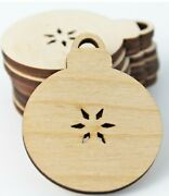 Wood Christmas Ornament Bulb Star Cutouts Earrings Jewelry Blanks All Sizes