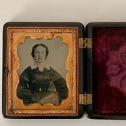 1/6 Plate Ambrotype Mid 19th Century Collectible Vintage Photography