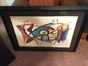 Abstract Print - Alfred Gockel -matted And Framed - 34x46 - Very Cool And Rare