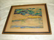 H N Hooven - In The Poconos - Watercolor - Hazleton Pa Weatherly Pa Listed Art
