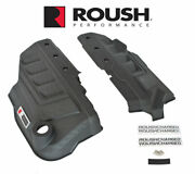2018-2021 Ford Mustang Gt Roush Supercharged Engine Coil Covers Pair W/ Emblems