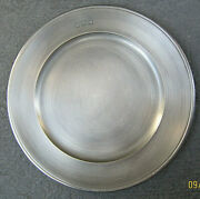 Collectible Handcrafted John Somers Brazil Js X Mg Pewter 11 1/2 Plate Mint