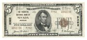 Nevada, Missouri Mo 5 National Bank Note, 1929 Series, Type 2, Ch. 9382
